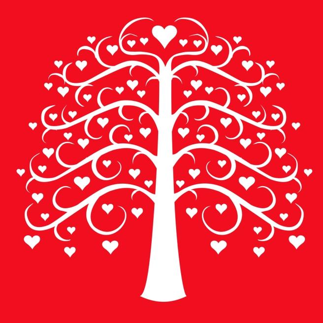 arbol corazones