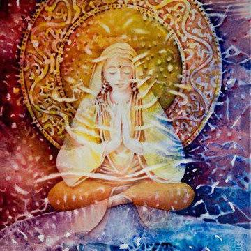 mujer dibujo meditacion perfecta