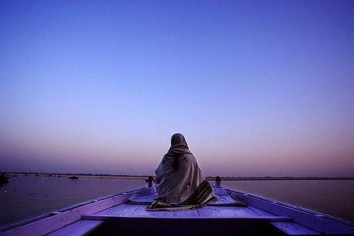 ser en la soledad azul
