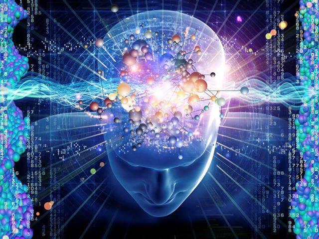 hombre cerebro azul