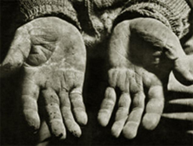 manos trabajador