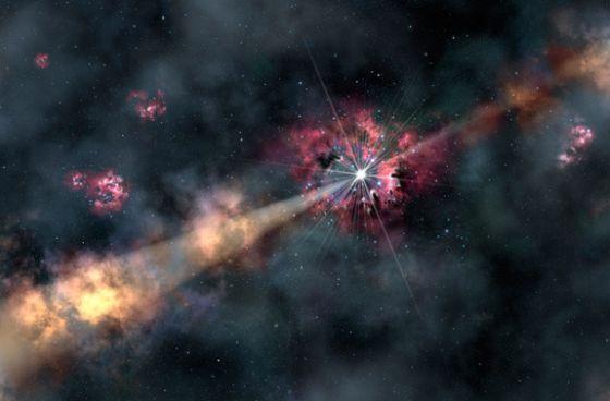 universo estallido nueva galaxia