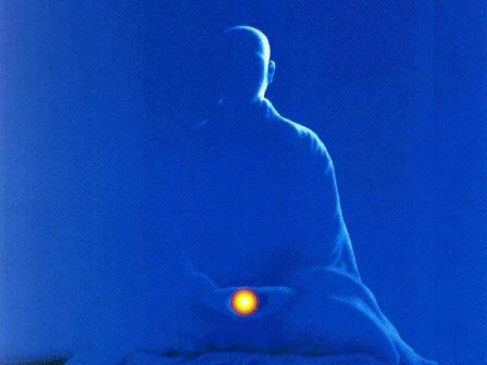 meditacion azul y luz