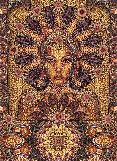 mujer mosaico