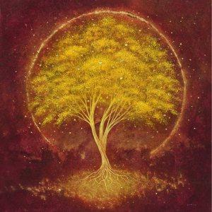 arbol dorado y raices