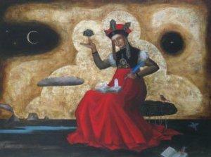 mujer sacerdotisa