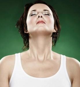 mujer respiracion