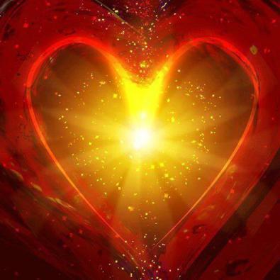 corazon rojo y amarillo